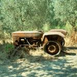 Fritz der Traktorist hat den Wagen einfach stehen gelassen