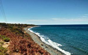 Küstenlinie zwischen Kamariotissa und Therma