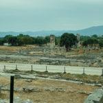 Blick über die antike Agora (Marktplatz)