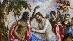El Greco. Taufe Jesu. (vermutlich 1569). Historisches Museum Iraklio.