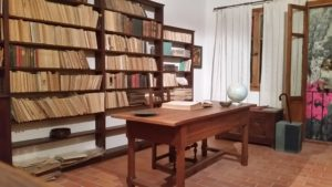 Das rekonstruierte Arbeitszimmer von Nikos Kazantzakis im historischen Stadtmuseum Iraklio