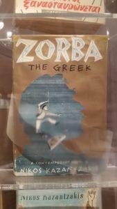 """""""Zorba, the greek"""" Historische Ausgabe des berühmten Werkes von Nikos Kazantzakis im historischen Stadtmuseum Iraklio"""