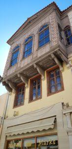 Chania, Erker der typischen türkischen Wohnhäuser