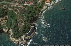 Die Lage, bei Google-Earth von oben gesehen