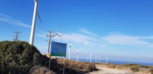 Windkraftanlage bei Vrouchas (Ostkreta)