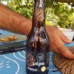 """Das Bier """"8. Tag"""" der selben Brauerei hat 7% und kommt eher mit einer eine Pils-Note daher"""