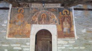 Wandfresken in der Vorhalle der Agia Marina